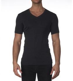 T-shirt en laine et soie pour homme ANTHRACITE