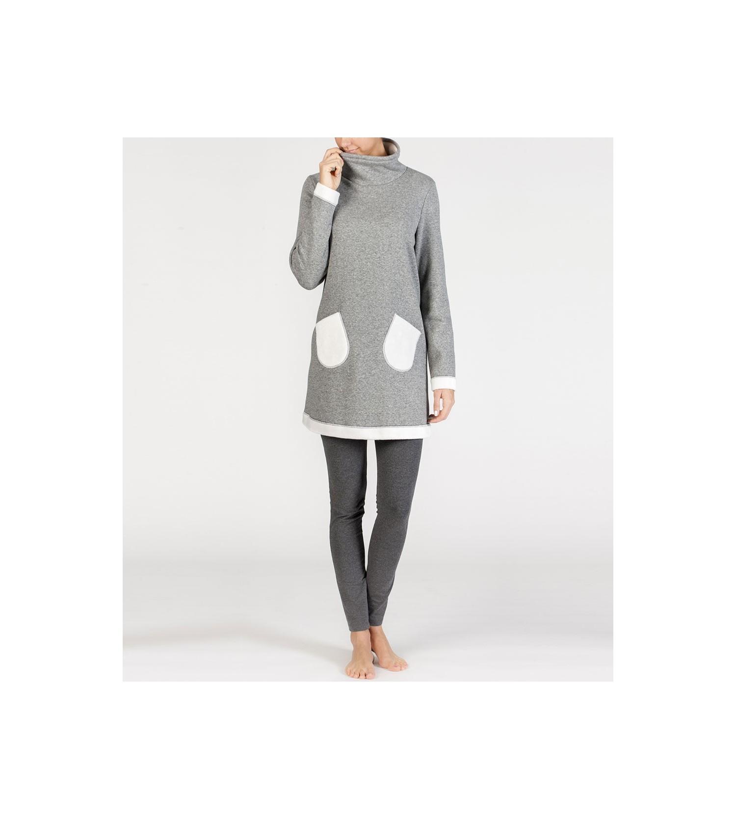 tenue d 39 int rieur pour femme gris ecru egatex lingerie sipp. Black Bedroom Furniture Sets. Home Design Ideas