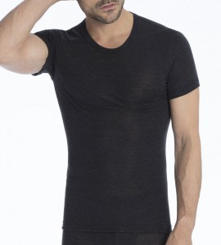 T-Shirt Homme Laine et Soie ANTHRACITE