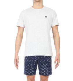 Pyjama court motif Colibri Homme MARINE 00RA