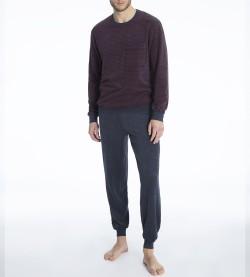 Pyjama en éponge pour homme Troy GRIS BORDEAUX 209