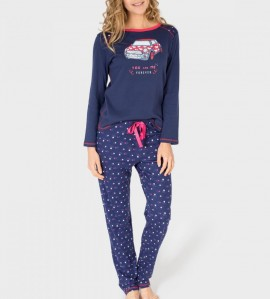Pyjama You and Me Forever Femme BLEU