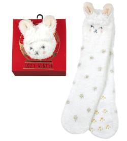 Cozy Winter Socks anti dérapantes LAPIN