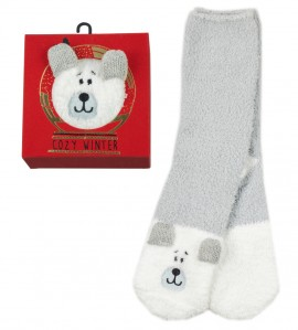 Cozy Winter Socks anti dérapantes OURS