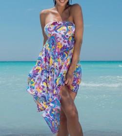 Robe jupe de plage pour femme BLANC
