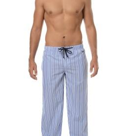 Pantalon tissu rayé Carlton BLEU