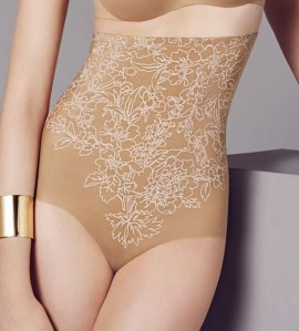 Gaine culotte haute Flower Power PEAU