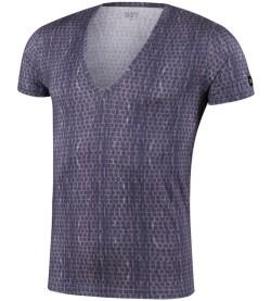 T-shirt pour homme col V A50 BLEU NUIT