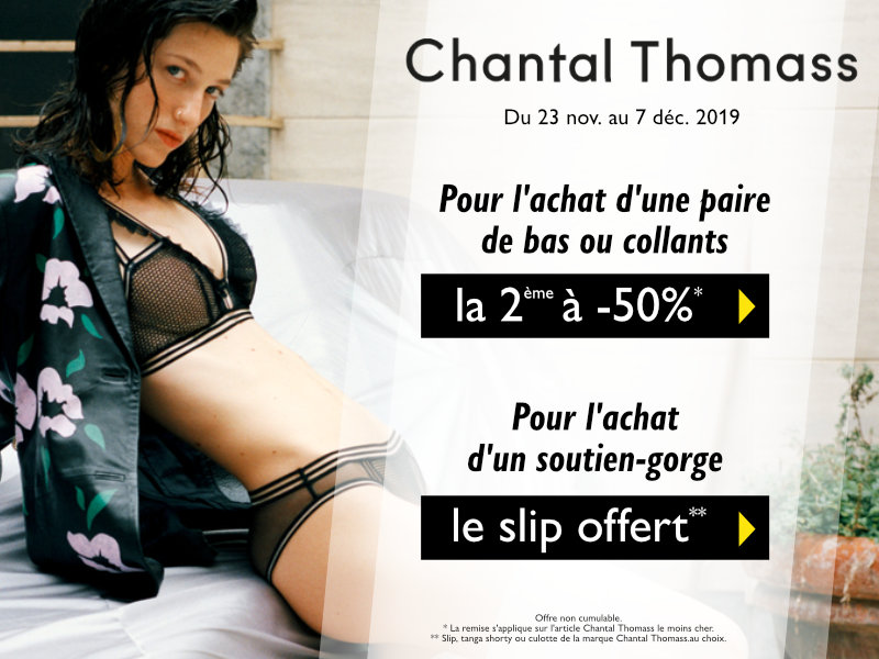 le slip chantal thomass offert